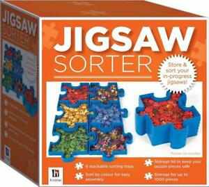 Jigsaw Puzzle Sorter Store & Sort Your Jigsaw Pieces 6 x Stackable Trays Hinkler