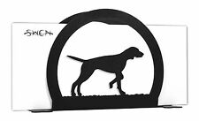 English Pointer Dog Black Metal Napkin or Letter Holder *New*