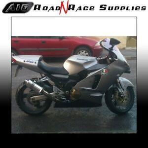 Kawasaki ZX12R 2000-2006 A16 Stubby Stainless Exhaust can