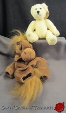 Adorable Unipak Designs Ivory/Light Yellow Plush Teddy Bear Brown Horse Costume