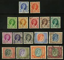 Rhodesia & Nyasaland  1954-56  Scott #141-155  USED Set