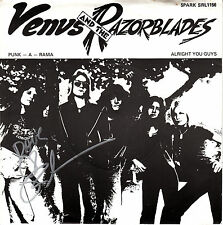 Venus And The Razorblades - Punk - A - Rama UK 45 Autographed inc COA  KBD