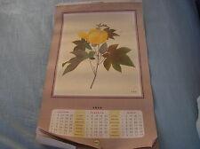 CALENDARIO SHELL 1959 FIORI ILLUSTRAZIONI GIAPPONESI JAPAN