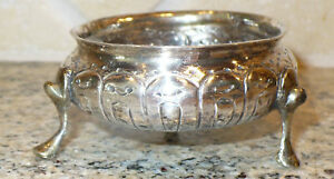 1700's ANTIQUE RUSSIAN STERLING SILVER OR BETTER SALT DISH CELLAR