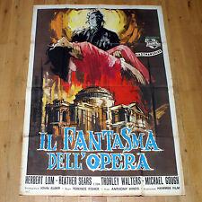 IL FANTASMA DELL'OPERA manifesto poster affiche Horror Hammer The Phantom of the