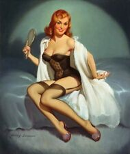 Vintage Pin Up Girl Rétro Burlesque risque poster