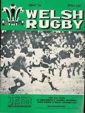 Welsh Rugby Revista de abril de 1979, Francia / Gales Fotos & informe