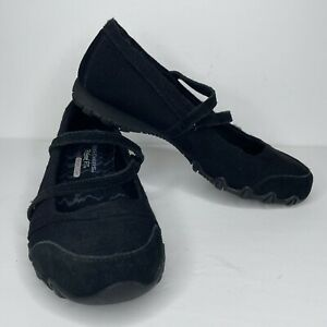 Sketchers Women's Size 7.5 US Relaxed Fit Biker Get Up Shoes Black SN 49405