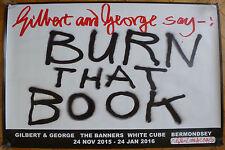 Gilbert & y george conjunto de 10 firmado carteles los banners (Hirst/Banksy/Emin)
