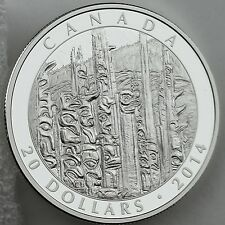 Canada 2014 $20 Emily Carr: Totem Forest, 1 oz 99.99% Pure Silver Proof