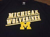 Michigan Wolverines Large T Shirt Vintage Retro Style NCAA Football Basketball
