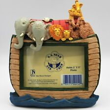 Noah's Ark Picture Frame SS Noah And Crew Jim Shore Designs w/ Box Baby Photo