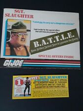 GI Joe Sgt. Slaughter B.A.T.T.L.E Special Offers brochure and yellow order lot