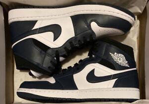 NIB Nike Air Jordan 1 Mid Armory Navy 554724-411 Size Men's 9.5 FREE SHIPPING!