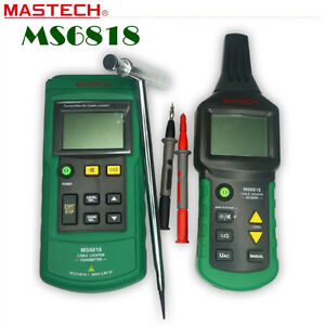MASTECH MS6818 Wire Tracker Cable Metal Pipe Backlight Detector Tester AC/DC