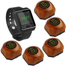 SINGCALL Wireless Hospital Calling Nurse System 1 Watch 5 Bells Buttons