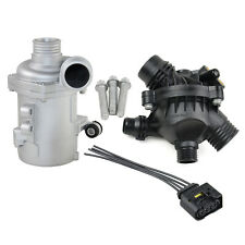 Electric Engine Water Pump+Thermostat Housing+Bolts Kit for BMW X5 xDrive 3.0si