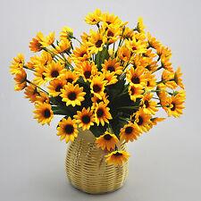 Buqué De Girasol Artificiales Flores Sintético 14 Cabezuela Para Jardín Noble