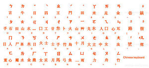 CHINESE KEYBOARD STICKER LABEL TRANSPARENT ORANGE LETTERS ONLINE-WELCOME