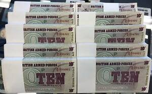 British Armed Forces Ten New Pence (Ten Consecutive Bundles of 100 Notes) 6th Se