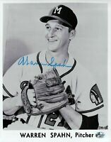 Warren Spahn Signed 8X10 Photo Autograph Braves White Border Auto w/COA