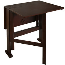 Drop Leaf 2 Person Compact Dining Table / Craft Table - Dark finish OC5656