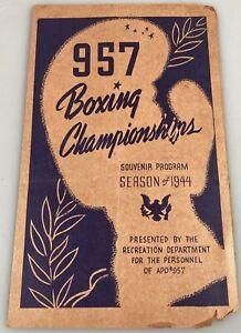 1944 (957) Boxing Championships - Vintage Sports Souvenir Program