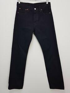 LEVI'S Mens Size US 30 Black Straight Leg Button Up Jeans