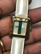 Nice Ladies White Band Fossil SC-5510 Analog Watch