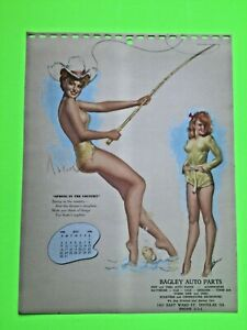 """mac PHERSON """" spring in the country""""- MAY 1948  PIN-UP/CHEESECAKE  calendar page"""