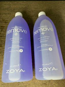 ZOYA REMOVE + Nail Polish Remover, Nail Cleaner & Nail Prep 32oz - 2 PACK SET