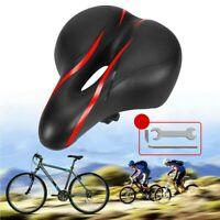 Comfort Wide Bike Gel Cruiser Extra Sporty MTB Road Bicycle Soft Pad Saddle Seat