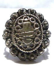 ESTATE WOMENS STERLING SILVER SMUGGLER PARAPHERNALIA POISON RING SIZE 5.25