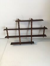 Vintage Wooden 4 Tier Wall Hanging Shelf Shelves Display Trinkets & Collectibles
