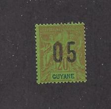 """FRENCH GUIANA - 89a - MH -  1912 - WIDE SPACING O/P ON """"NAVIGATION AND COMMERCE"""""""