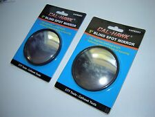 "2 PC SET ROUND 3"" STICK-ON BLIND SPOT CONVEX WIDE ANGLE MIRRORS CAR TRUCK BOAT"