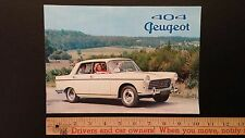 "1961 PEUGEOT ""404"" - Color Dealer Sales Catalog Brochure - Good+ (FRANCE)"