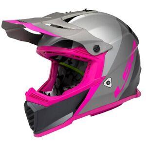 LS2 Gate MX Launch Helmet - Silver/Gray/Pink