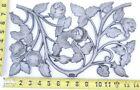 """Vintage Pediment Rose Bloom Leaf Wall Décor Cast Aluminum Art Panel 14"""" x 8"""" SI"""