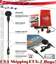 YouMic Lavalier Lapel Microphone with Easy Clip On System Perfect for Recording