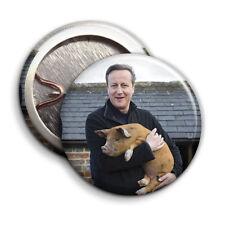 David Cameron / Pig Button Badge - 25mm 1 inch Porkback Mountain / Parody Style