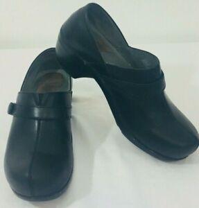 Dansko Mary Jane Slip On With Heel Black Shoes sz 40 US 9.5