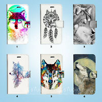Wolf Wallet Case Cover for iPhone XS MAX XR X 8 7 6 6S Plus SE 5S 067