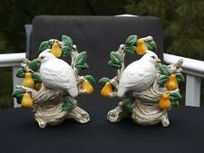 FITZ & FLOYD CANDLEHOLDERS 12 DAYS OF CHRISTMAS PARTRIDGE IN A PEAR TREE RETIRED