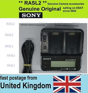 Genuine SONY ActiveForce AC-VQH10 Dual Charger for H series Batteries HXR-MC1