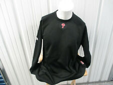 VINTAGE MAJESTIC PHILADELPHIA PHILLIES SEWN XL BLACK SWEATSHIRT NEW W/ TAGS