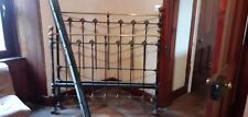 More details for antique victorian brass double bed 4'6