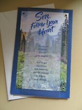 American Greetings Card  Happy Birthday Son (Follow your Heart) Large card