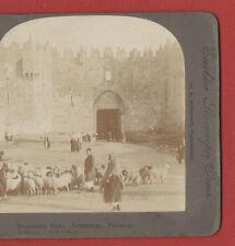 DAMASCUS GATE. JERUSALEM.PALESTINE. - 1900's  VINTAGE STEREOVIEW