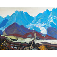Roerich From Beyond Mountain Landscape Painting Canvas Art Print Poster